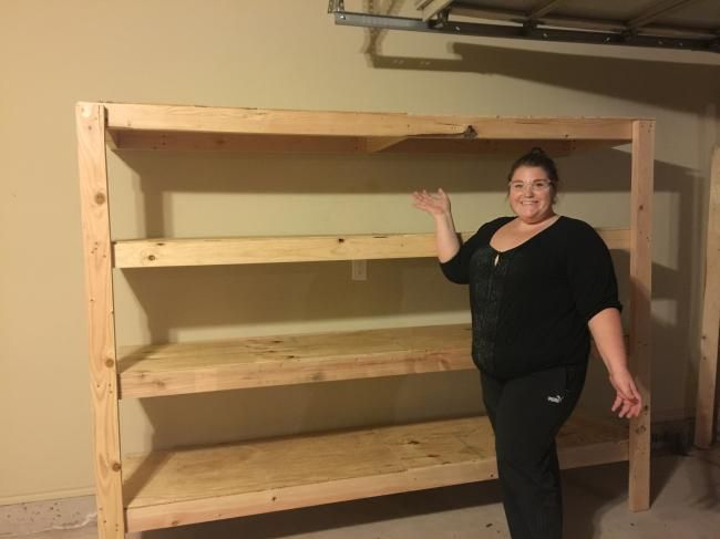 No Cutting Diy Garage Shelving Diygarageshelving Diyprojects