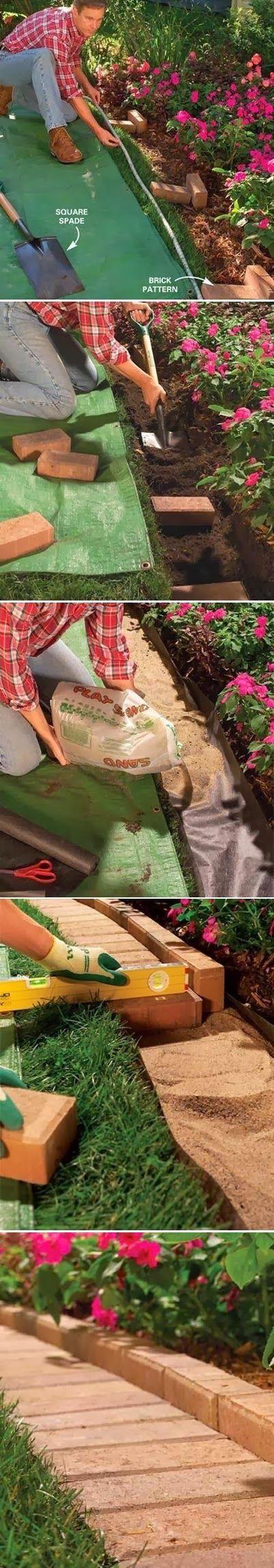 The Best Garden Bed Edging Tips | Garden | Pinterest | Brick garden ...