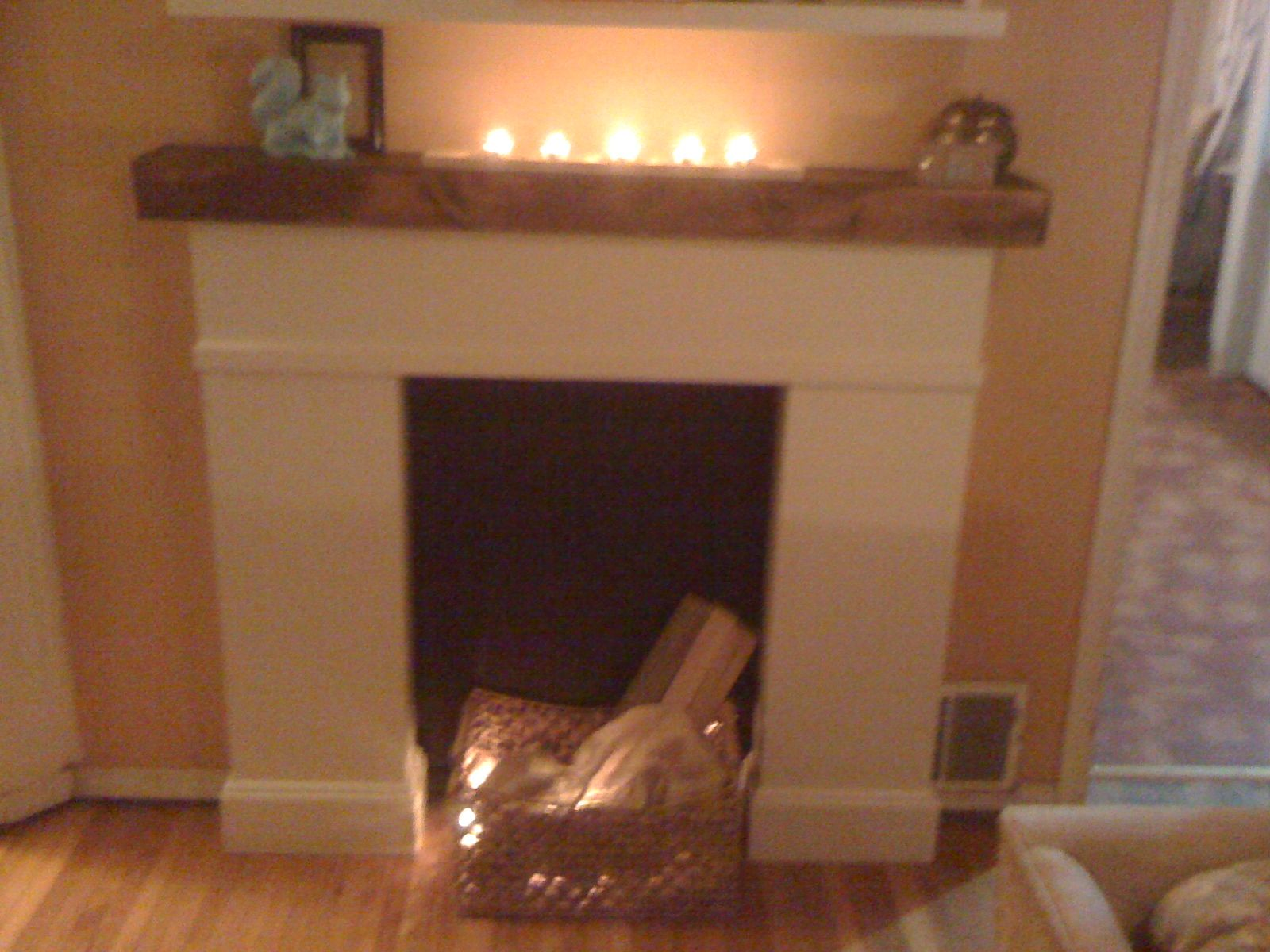 Ana white simple faux fireplace diy projects fireplaces
