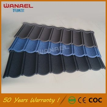 Classical Wanael Low Cost House Construction Material Stone Coated
