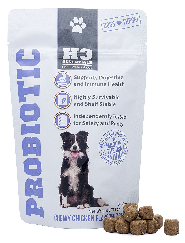 H3 essentials probiotics for dogs improves upset