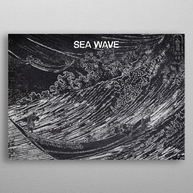 SEA WAVE by FARKI15 DESIGN | metal posters - Displate | Displate thumbnail