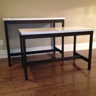Bar Table And Desk Using Ikea Table Tops Vika Amon Ikea Table Tops Home Bar Table Ikea Table
