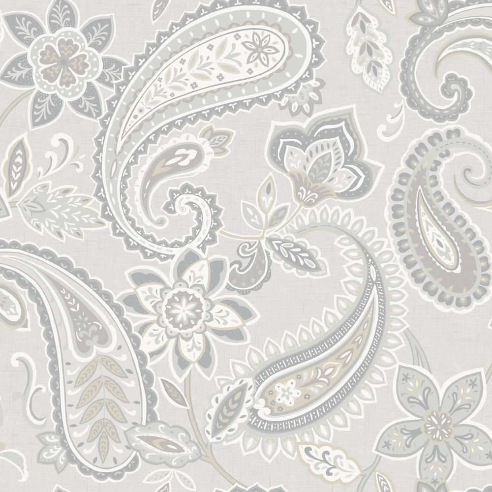 Holden Decor Indira Paisley Pattern Floral Flower Motif Metallic