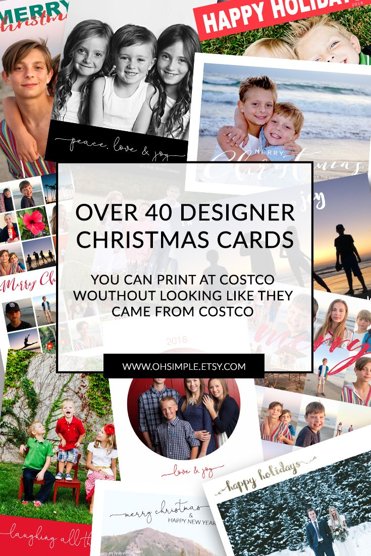 christmas cards you can print at costco without looking like they came from costco inexpensive christmas cards save money - Costco Christmas Photo Cards