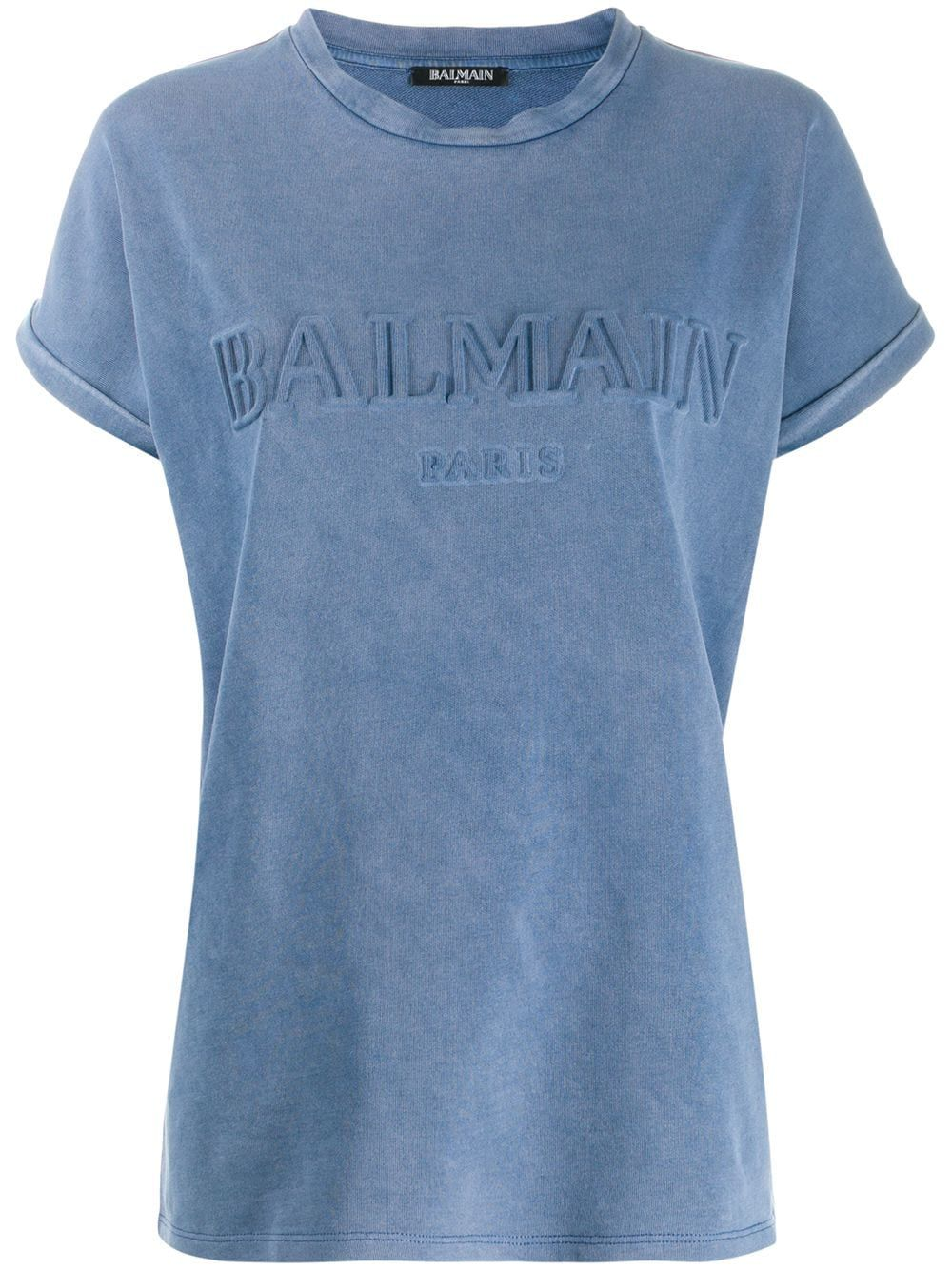 premium selection 1c953 f8866 Balmain Balmain logo jersey T-shirt - Blue | Products in ...