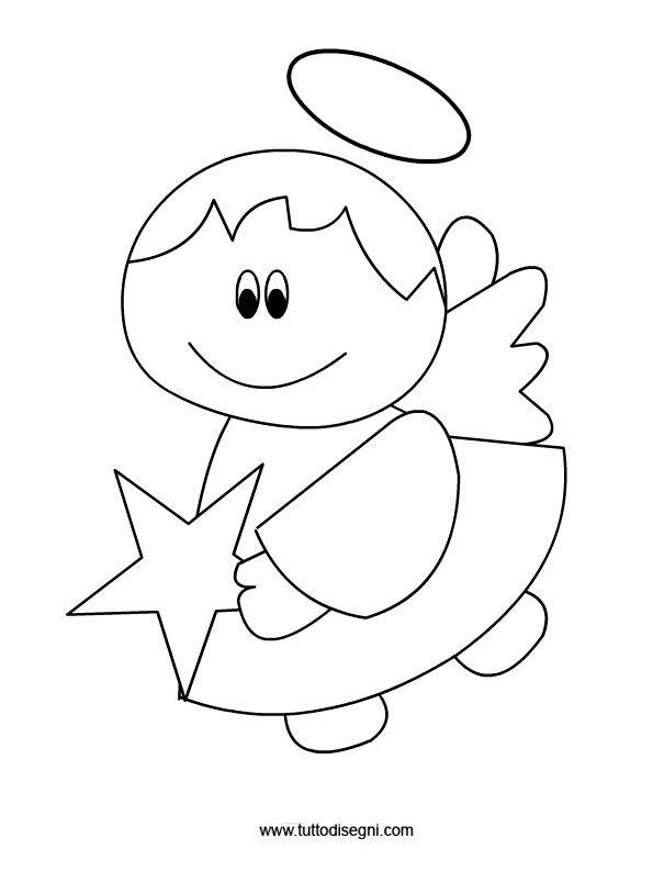 Angelo stella repujado pinterest scuola natale e angeli for Immagini angeli da colorare