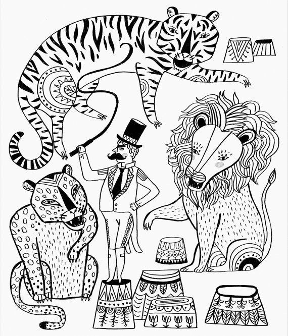Just Add Color Circus Coloring Book by Sarah Walsh (signed copy with - copy coloring pages of cartoon owls