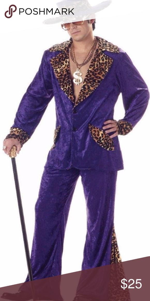 Big Daddy Pimp Ho Gold Halloween Costume Accessory Tattoo Eye Lashes