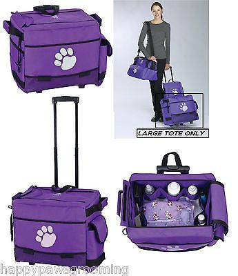 Pet Groomer Grooming Tool Case Rolling Tote Bag Wheels