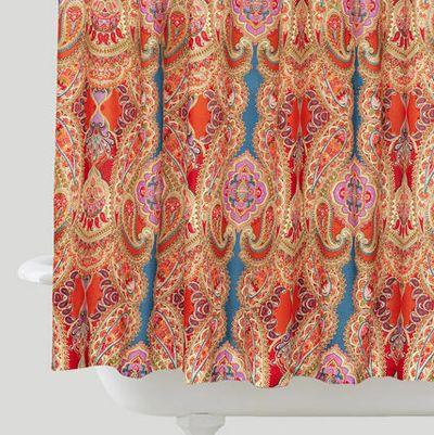 Paisley Venice Shower Curtain Bohemian Shower Curtain Paisley