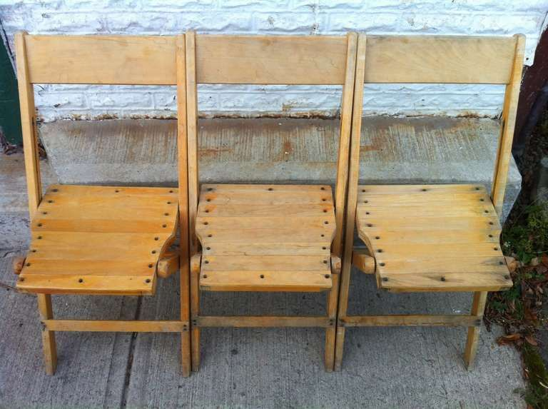 Wonderful Vintage Wood Folding Chairs | From A Unique Collection Of Antique And  Modern Dining Room Chairs