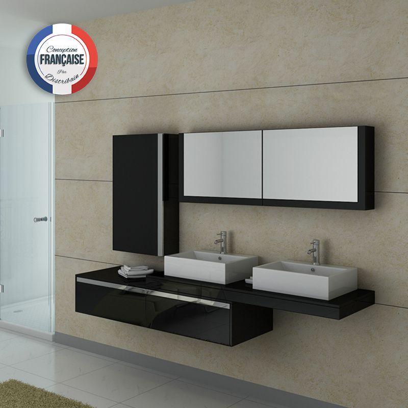 DIS9551N Meuble salle de bain noir Pinterest - salle de bain meuble noir