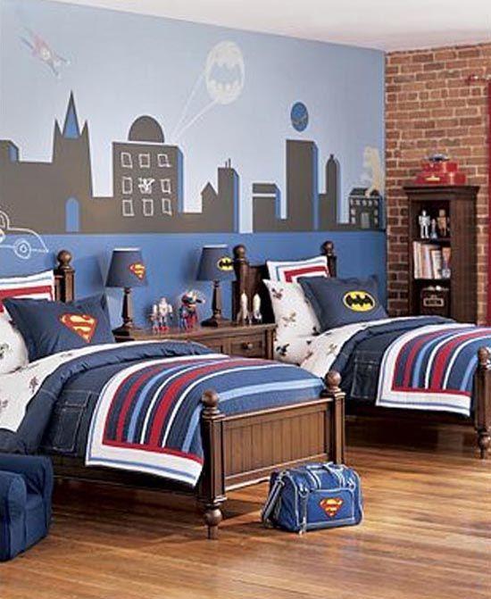 DIY Super Hero Kids Bedroom   Batman boys room, Room and Decorating
