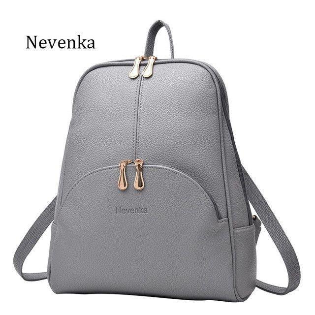 a1781cf723 Nevenka Women Backpack Leather Backpacks Softback Bags Brand Name Bag  Preppy Style Bag Casual Backpacks Teenagers Backpack Sac