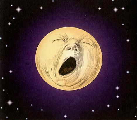 This moon made me yawn. Look long enough and it will probably make you yawn too. There you go.