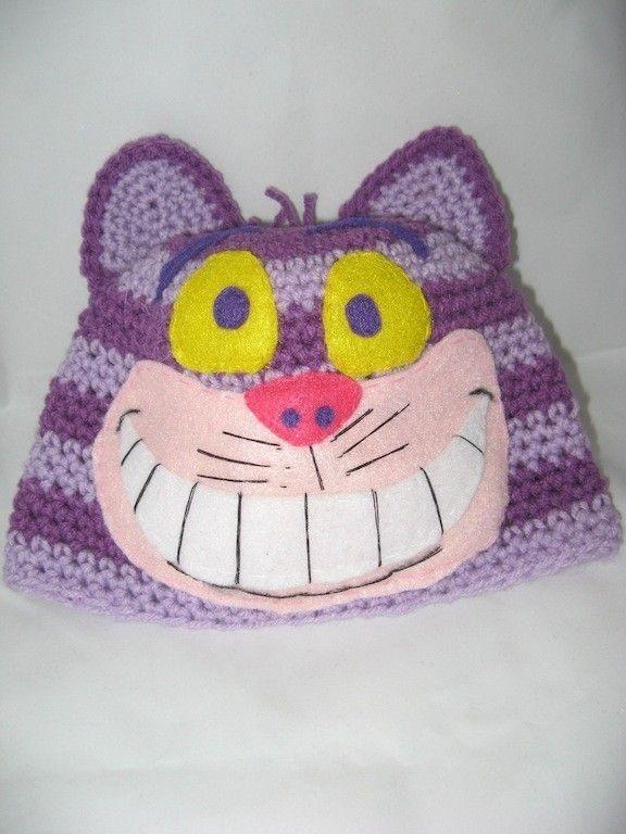 Cheshire Cat Inspired Hat\\/Beanie\\/Cap | Gatos, Gato de Cheshire y Etsy