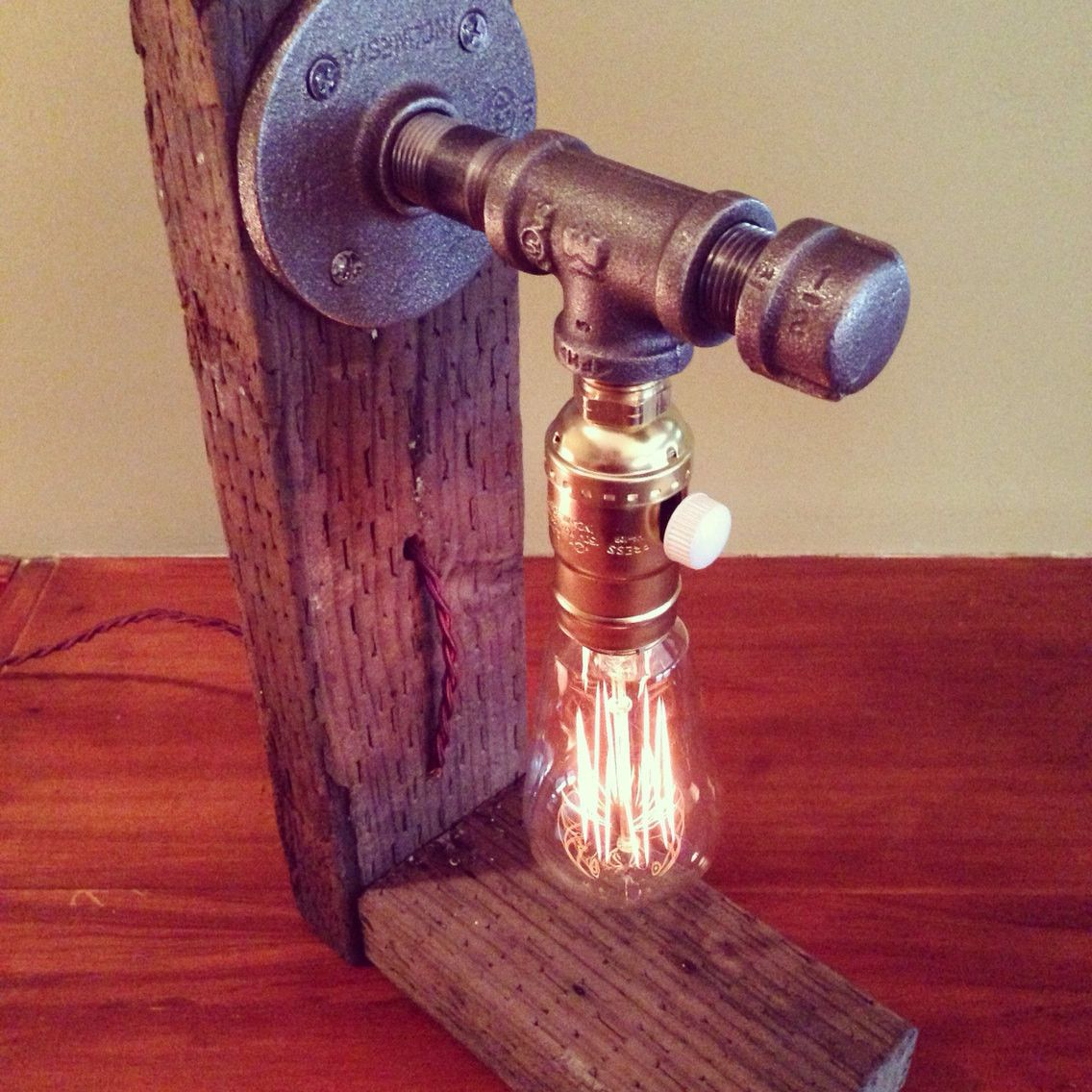 Industrial Lighting Lighting Rustic Light Steampunk: Classic Industrial Steampunk Table Lamp With Dimmer In