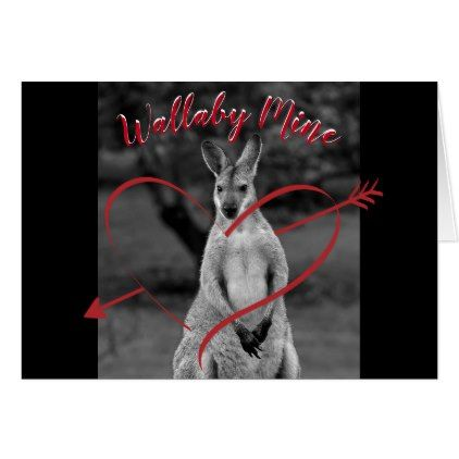 Wallaby Mine Heart Valentine S Day Australia Card In 2018
