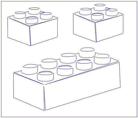 Lego Brick Outline Drawing templates, Lego figures, Lego