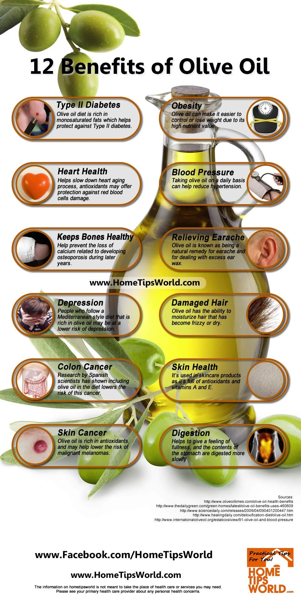 12 Benefits of Olive Oil ¤ Clinical studies have shown