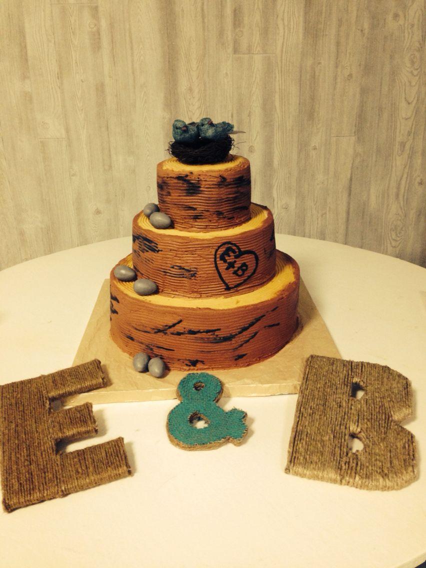Tree stump wedding cake | Auntie mmmm\'s cakes | Pinterest | Tree ...