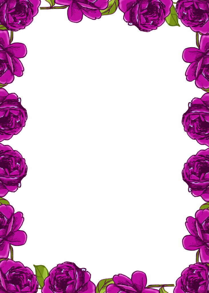 pink birthday card page border design border design – Printable Bordered Paper Designs Free
