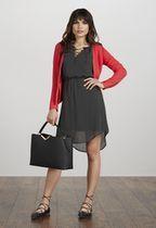 Vêtements Lace-Up Sleeveless Dress en Black Multi - Livraison gratuite sur JustFab