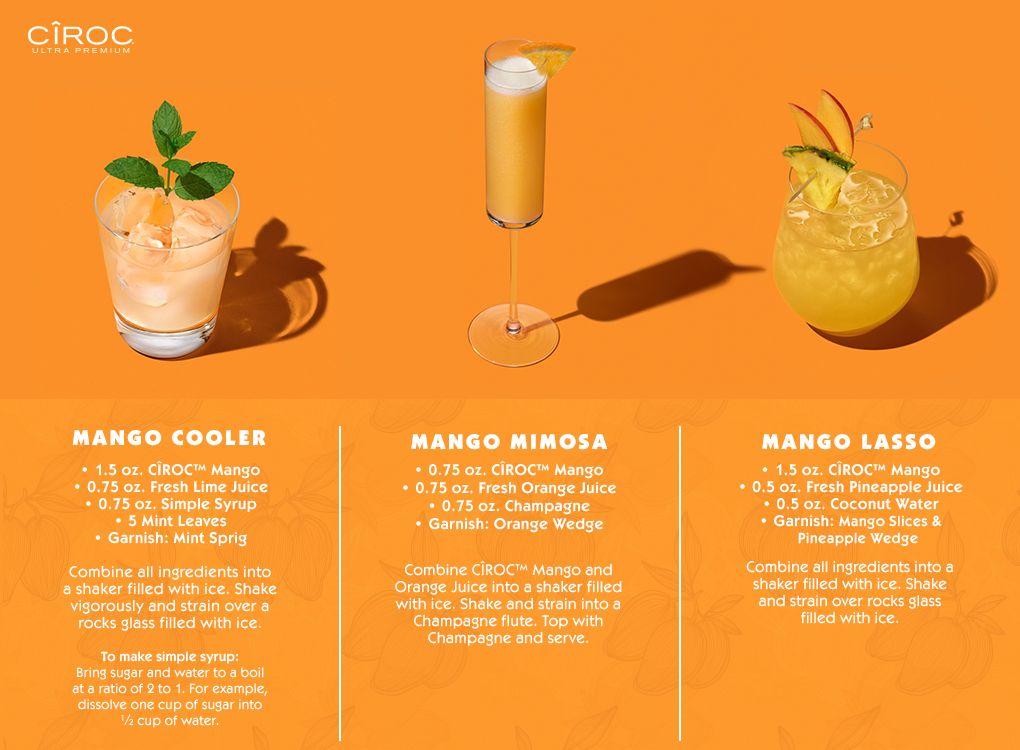 Ciroc Mango Recipes Ciroc Mango Recipes Mango Drinks Ciroc Recipes