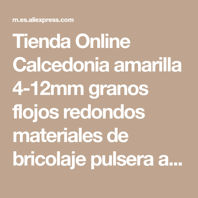 0ce1c544ab26 Tienda Online Calcedonia amarilla 4-12mm granos flojos redondos materiales  de bricolaje pulsera aretes collar
