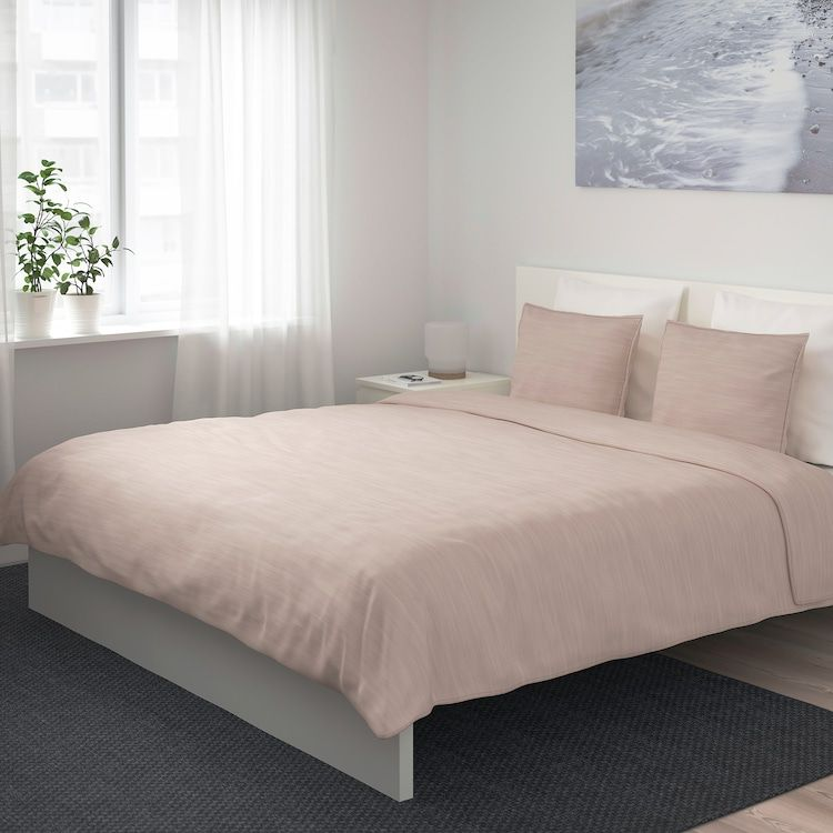 Skogsalm Duvet Cover And Pillowcase S Pink Full Queen Double Queen Ikea Duvet Covers Duvet Cover Sets Bed Linens Luxury
