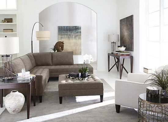 Living Rooms, Parker Sectional, Living Rooms | Havertys ...