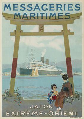 Messageries Maritimes - Japon - Extreme - Orient Vintage Poster (artist: Hook) France c. 1920  lanternpress.com
