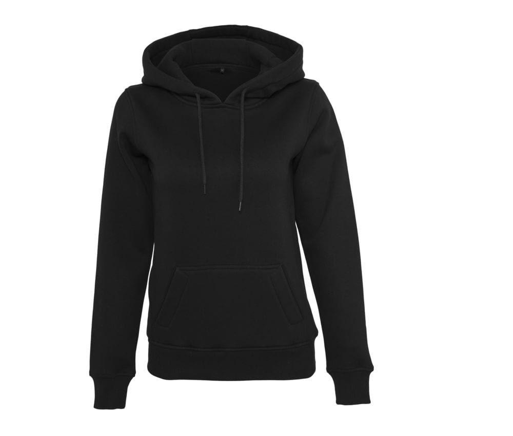Damen Sweatshirt mit Kapuze Schwarz - Build Your Brand BY026 - Größe: L