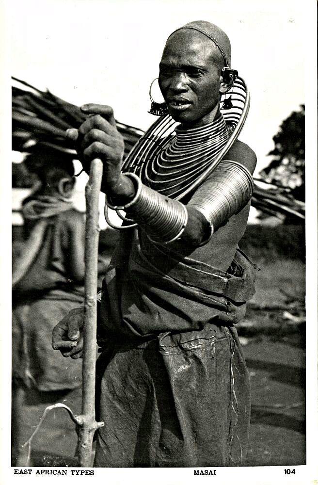 Masai Woman Kenya 1950s Masai