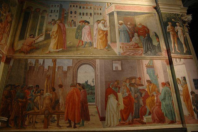 Santa Maria del Carmine Brancacci Chapel frescoes by Masaccio, Masolino and Filippino Lippi