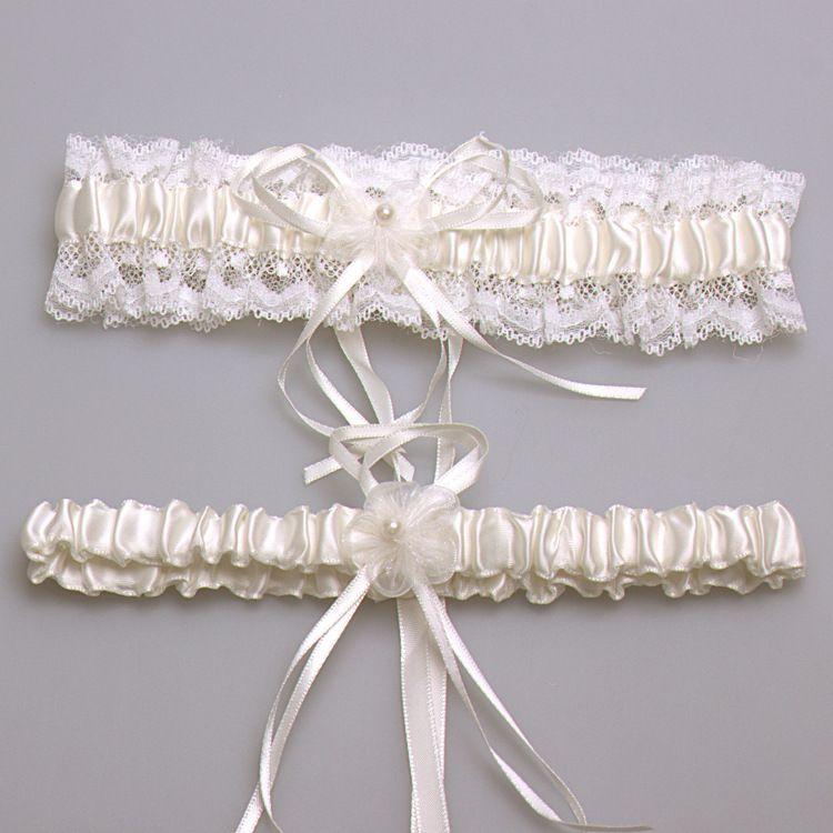 44872e1b8 Marfim Sexy Lace Bowknot Garter Nupcial Set Acessórios Do Casamento de  Noiva Ligas de Perna Cinto Mulheres Liga Rosa Branco Azul