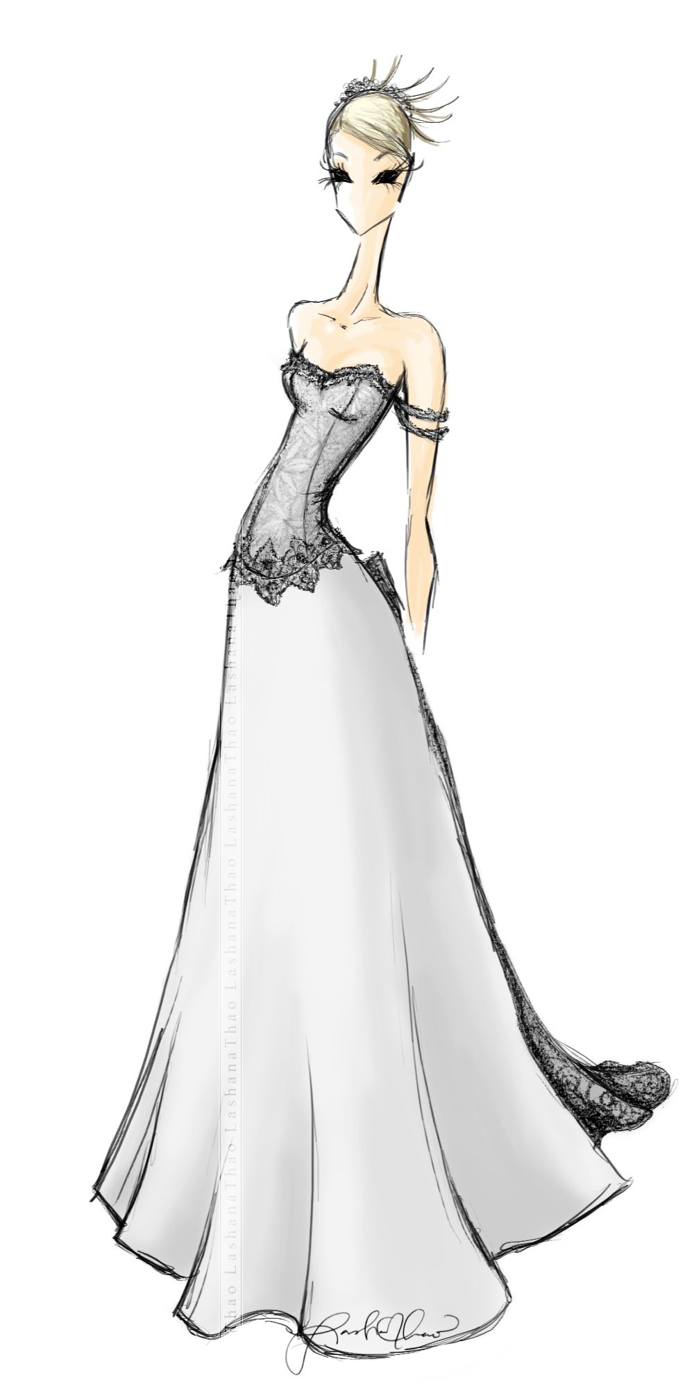 Free wedding dress sketches - Fashion Design Making A Comeback On Pinterest Fashion Design Drawi