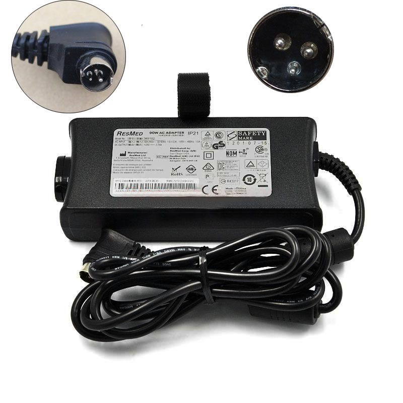 New Resmed 369102 24v 3 75a Ac Adapter For Resmed R270 7198 3 Pin Din Power Supply Power Supply Adapter Resmed
