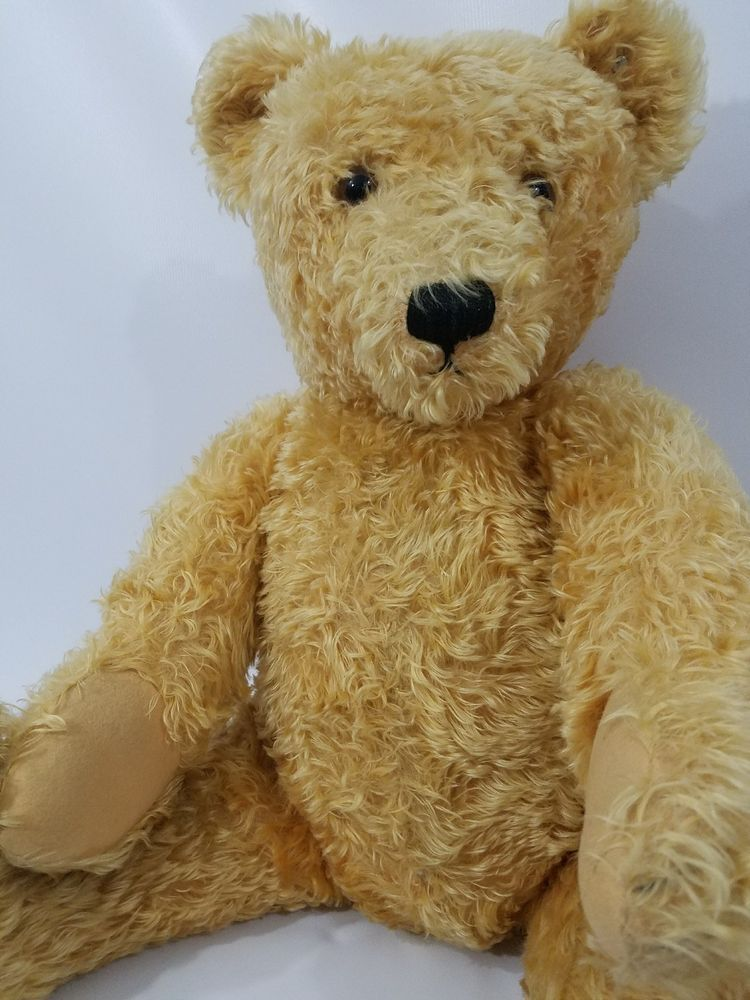 Antique Vintage Steiff Golden Mohair Teddy Bear Large 30