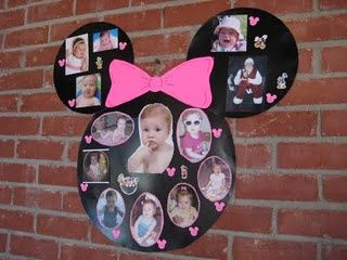 DIY Minnie Mouse Photo Collage #DIY #Party #Parties #Decorations #Decorate #Decor #Disney #Minnie #MinnieMouse #Mouse #Mickey #MickeyMouse #Collage #BirthdayCollage #Birthday