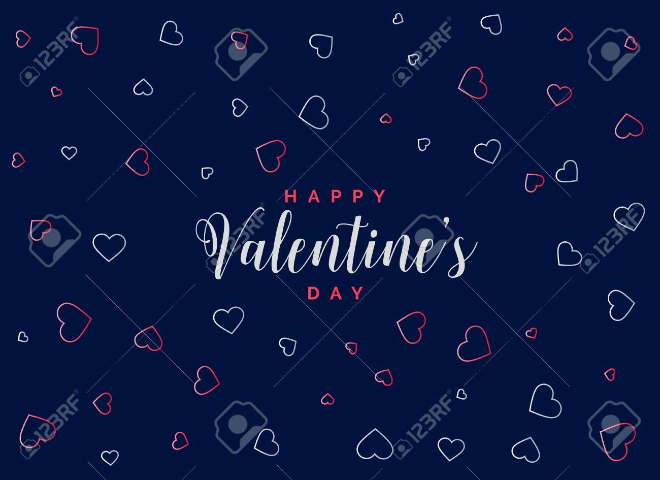 blue background with hearts pattern for valentines day