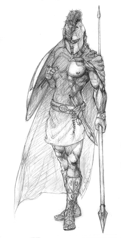 More Decent Spartan Sketch By Pepperwolfviantart