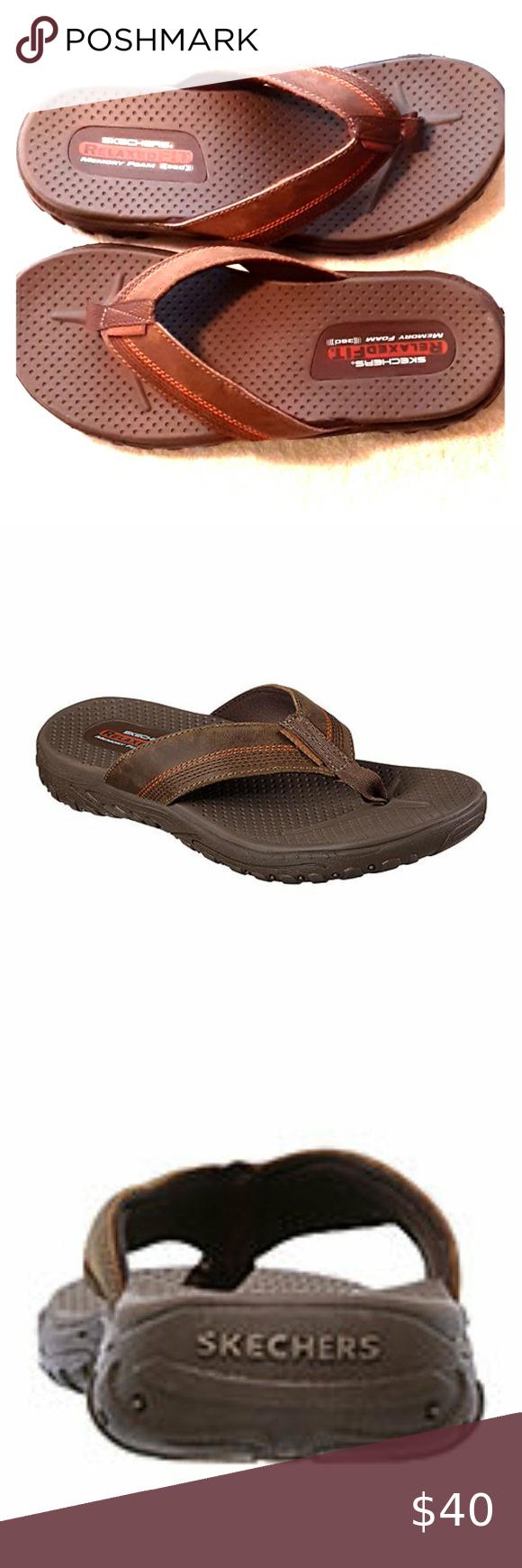 comprender tortura repetir  Mens Skechers Brown Reggae Cobano Flipflop Sandal New without box. See  label on bottom of shoe. Skechers Men's Brown Reg… | Mens skechers, Skechers,  Sandal fashion