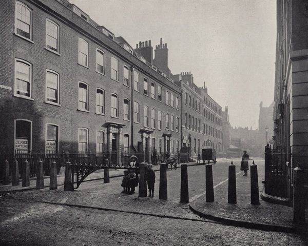 A series of streetscapes that no longer exist in Spitalfields.