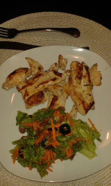 milanesa de pollo a la plancha con mostaza