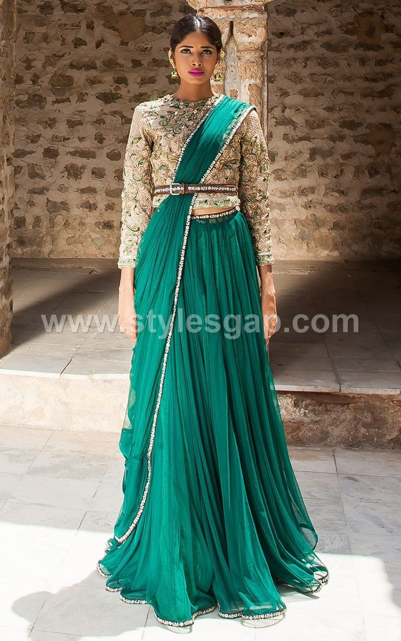 Pakistani Waist Belt Dresses Designs Party Wedding Collection 2018 ...