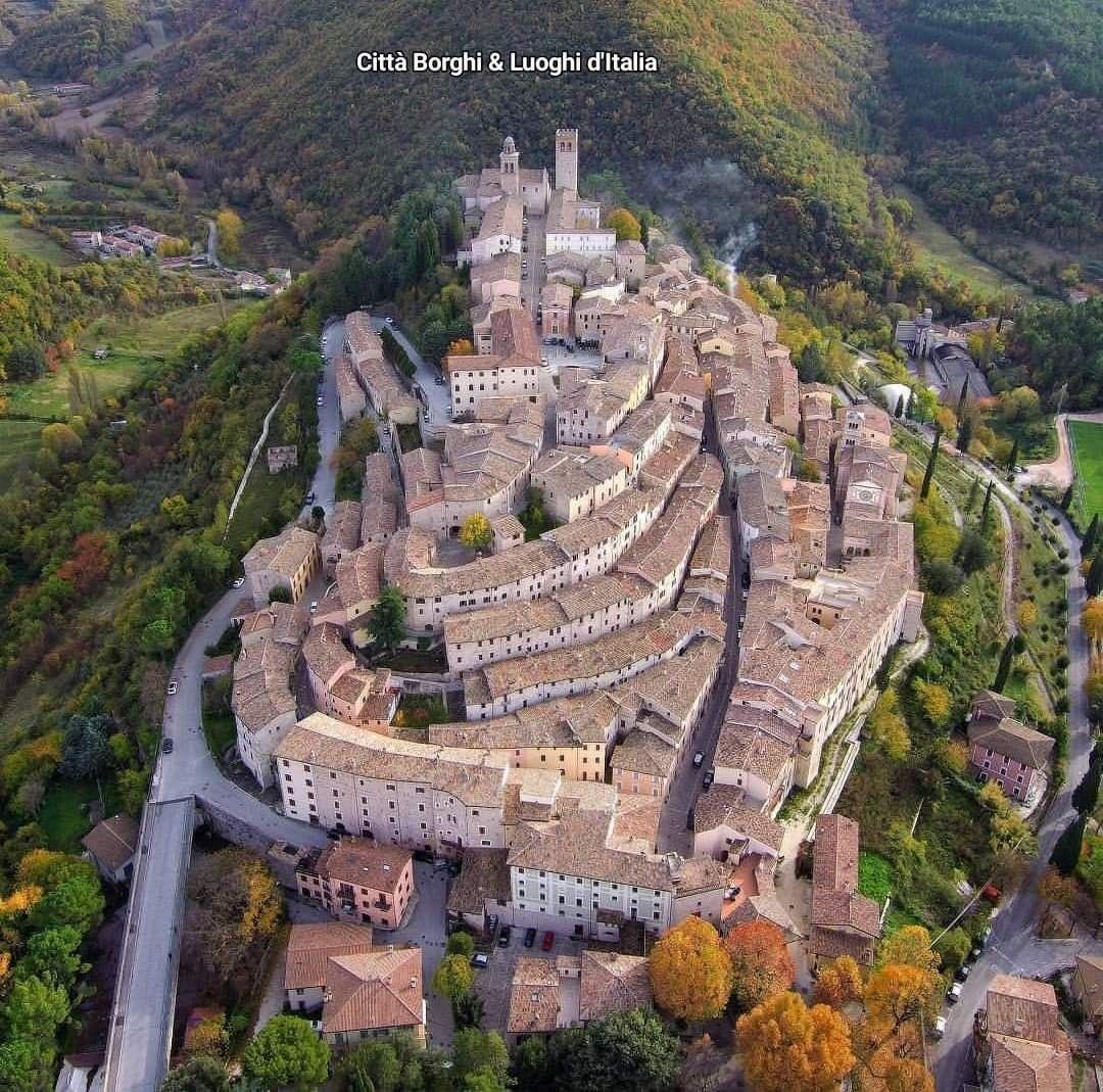 Regione Umbria. Panoramica sul di Nocera Umbra nella