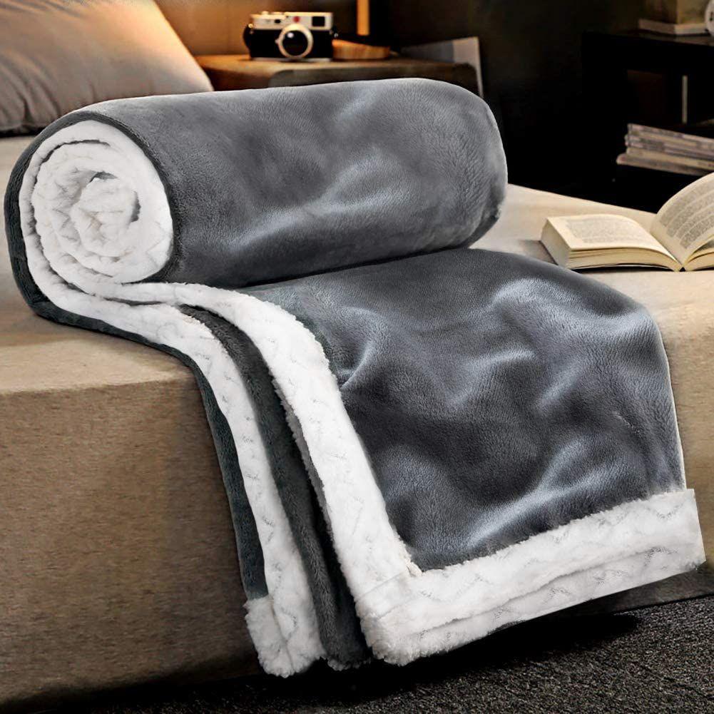 Ratel Kuscheldecke Doppelschicht Decke 150 200cm Grau 460gsm Upgrade Flanell Weiche Flauschige Fleecedecke Mikrof In 2020 Flauschige Decken Sofa Decke Kuscheldecke