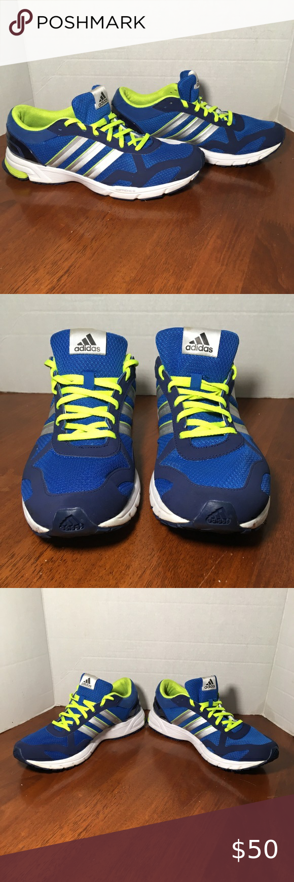 acantilado Tan rápido como un flash Arreglo  Adidas Mens Adiprene + Blue & Yellow Marathon 10.5 | Adidas outfit shoes,  Adidas shoes outlet, Blue adidas